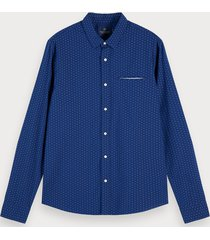 scotch & soda jacquard overhemd | regular fit