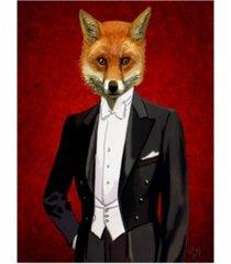"fab funky fox in evening suit, portrait canvas art - 36.5"" x 48"""