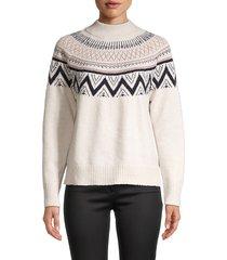 b my story women's high neck sweater - nude - size xl