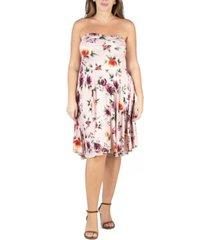 24seven comfort apparel women's plus size floral summer dress
