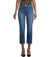 l'agence women's faded cropped slim-fit jeans - manchester - size 23 (00)