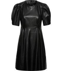 onllauren faux leather dress otw knälång klänning svart only