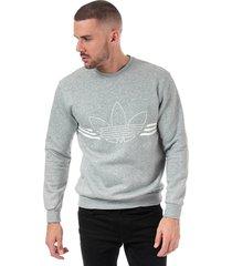 mens outline crew neck sweatshirt