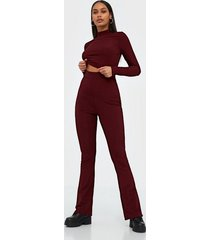glamorous high waisted trousers byxor