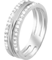 anello in argento 925 e zirconi per donna