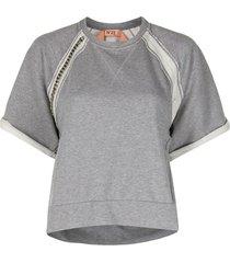 nº21 short-sleeve cotton sweatshirt - grey