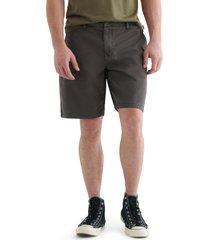 men's lucky brand stretch flat front shorts, size 38 - black