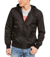 guess men's lightweight hooded bomber jacket
