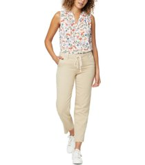 nydj relaxed trouser pants in stretch twill