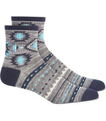 sun + stone men's gray geometric socks