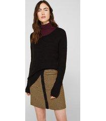 sweater con lana y alpaca negro esprit