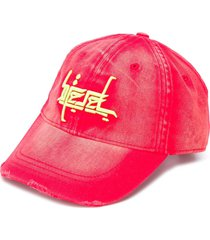 diesel distressed embroidered baseball cap