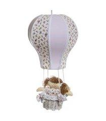 lustre baláo cintura quarto bebê infantil menina potinho de mel lilás