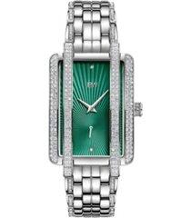 jbw women's mink diamond (1/8 ct.t.w.) stainless steel watch
