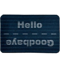 capacho carpet goobaye/hello azul único love decor