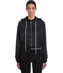 drkshdw mini windbreake casual jacket in black polyamide