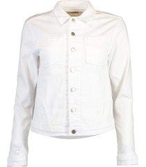 celine white denim jacket