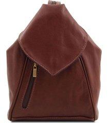 tuscany leather tl140962 delhi - zaino in pelle morbida marrone