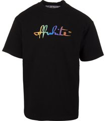black woman t-shirt with rainbow logo