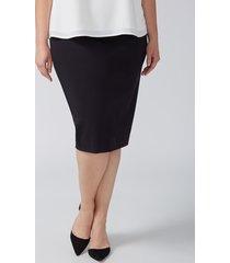lane bryant women's ponte pencil skirt 12 black