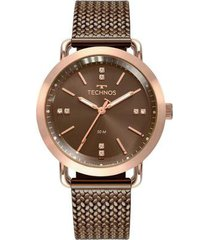 relógio technos fashion style 2036mmd/4m feminino