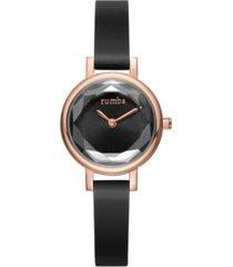 rumbatime venice gem silicone women's watch black