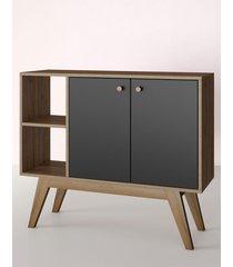 aparador buffet/bar bora preto estilare móveis