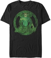 fifth sun dc men's green lantern distressed portrait logo short sleeve t-shirt