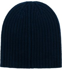 alex mill ribbed knit beanie - blue