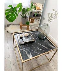 aisha black - stolik z marmurowym blatem