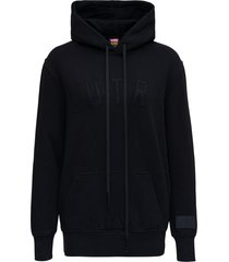 autry black cotton hoodie with logo