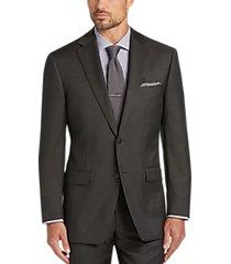 calvin klein brown tic slim fit suit
