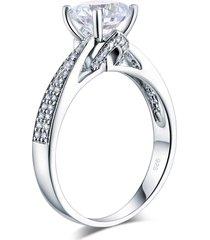 925 sterling silver wedding engagement ring 2 ct brilliant man made lab diamond