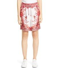 women's zimmermann wavelength print silk shorts