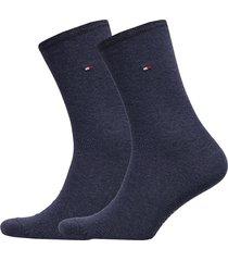 th women sock casual 2p lingerie hosiery socks blå tommy hilfiger