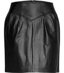 onlcamilla faux leather skirt otw kort kjol svart only