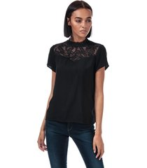 only womens first lace top size 12 in black