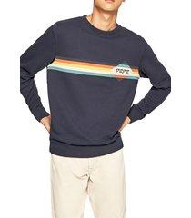 buzo azul-naranja-amarillo-blanco pepe jeans