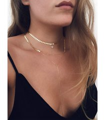 collar multicapa de estrella de lentejuelas