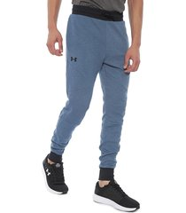 pantalón de buzo under armour unstoppable 2x knit jogger azul - calce regular