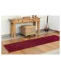 passadeira classic para sala vermelho marsala 50 x 200 cm
