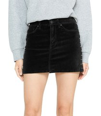 hudson women's studded velvet mini skirt - studded black - size 29 (6-8)