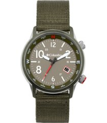 columbia men's outbacker olive nylon watch 45mm