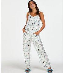 hunkemöller petite vävda pyjamasbyxor vit