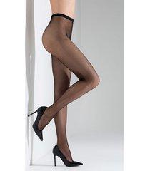 natori fishnet tights, women's, black, size l natori