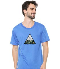 camiseta sandro clothing dont touch azul - azul - masculino - dafiti