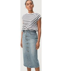 jeanskjol button front midi skirt