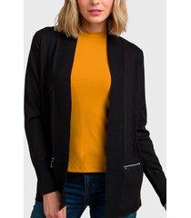 sweater ash liso negro - calce regular