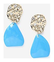 *blue stone drop earrings - turquoise