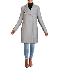 women's kenneth cole new york wool blend boucle coat, size x-large - white